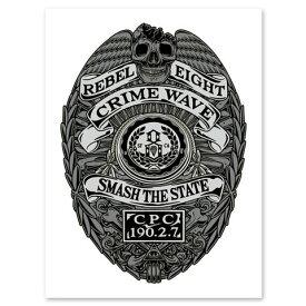REBEL8 レベルエイト CRIME WAVE POSTER