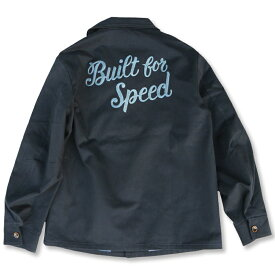 "定価¥30250 SALE!! 20%OFF!!/ KUSTOMSTYLE KSLWJ1801NY ""BUILD FOR SPEED"" SHAWL COLLAR LW JACKET NAVY"