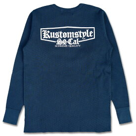"6000円SALE!! / KUSTOMSTYLE KSTH1712NY ""SUPREME QUALITY"" 9.0oz SUPER HEAVY WEIGHT CREW NECK THERMAL NAVY 30"
