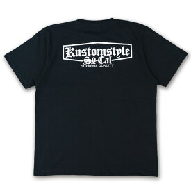 "KUSTOMSTYLE KST1712BK ""SUPREME QUALITY"" BLACK Tシャツ"