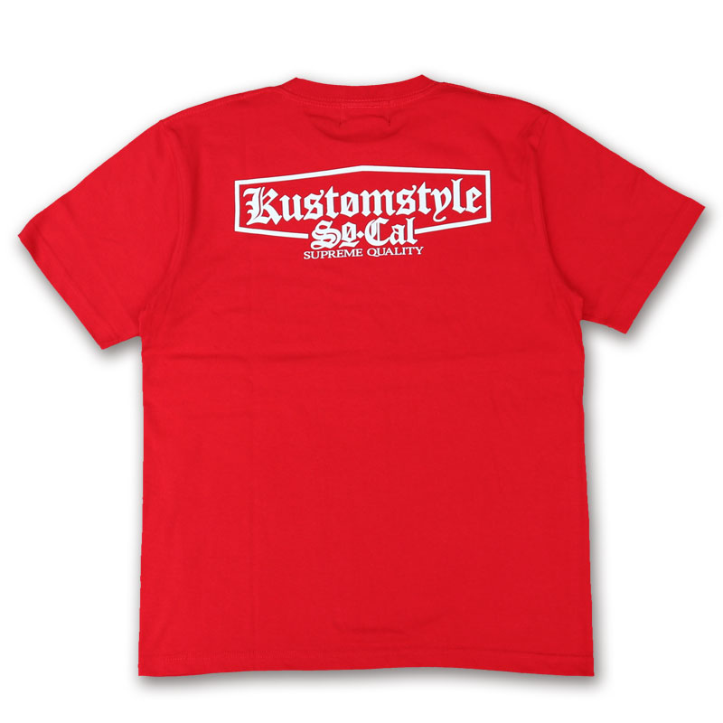 "KUSTOMSTYLE KST1712RD ""SUPREME QUALITY"" RED Tシャツ"