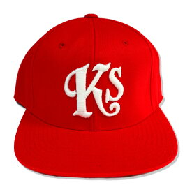 "KUSTOMSTYLE KSCP1208RD ""Ks"" SNAP BACK CAP REDキャップ"