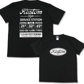 "KUSTOMSTYLE KST2009BK ""GAS STATION"" BLACK Tシャツ"
