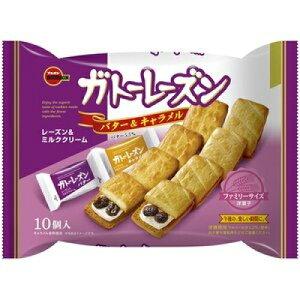 ブルボン ガトーレーズン バター&C 袋10個×12個