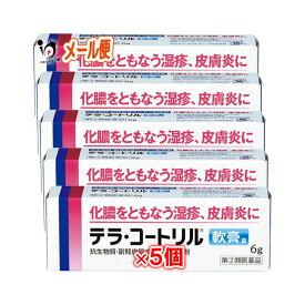 【指定第2類医薬品】テラコートリル 軟膏a 6g × 5個セット【ジョンソン・エンド・ジョンソン】