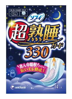 ユニチャーム ソフィ 超熟睡ガード 330 (14枚) くすりの福太郎