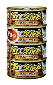 アイシア キャットフード 気まグルメ ささみ入りかつお (155g×4缶) 一般食キャットフード