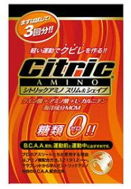 シトリックアミノ スリム&シェイプ 糖類ゼロ 【500ml用】 (6g×3包入り) くすりの福太郎 ※軽減税率対象商品