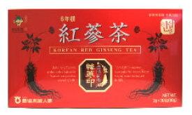 農協高麗人参 6年根 紅蔘茶 (3g×30包) 【栄養機能食品ビタミンC】 くすりの福太郎