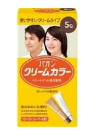 パオン クリームカラー おしゃれ白髪染め 【5G 深みのある栗色】 くすりの福太郎
