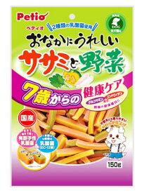 ヤマヒサ ペティオ チキンガム おなかにうれしい ササミと野菜 7歳からの健康ケア (150g) 全犬種 間食用 くすりの福太郎