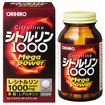 オリヒロ シトルリン Mega Power 1000 (240粒) くすりの福太郎