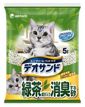 ユニチャーム ペットケア デオサンド 緑茶成分入り消臭する砂 (5L) 猫砂