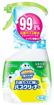 ジョンソン スクラビングバブル 石鹸カスに強いバスクリーナー シトラスの香り 本体 (400mL) 浴室用洗剤