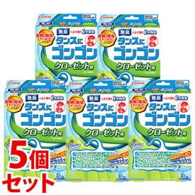 《セット販売》 金鳥 KINCHO キンチョウ タンスにゴンゴン クローゼット用 1年防虫 無臭タイプ (3個入)×5個セット くすりの福太郎