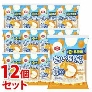 《セット販売》 亀田製菓 白い風船 ミルククリーム (18枚)×12個セット 米菓 ※軽減税率対象商品