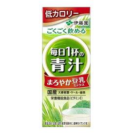 伊藤園 毎日1杯の青汁 まろやか豆乳ミックス 紙パック 200ml【栄養機能食品】