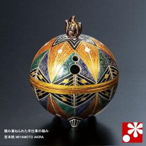 九谷焼 3号 香炉 錦繍(きんしゅう) 宮本晄