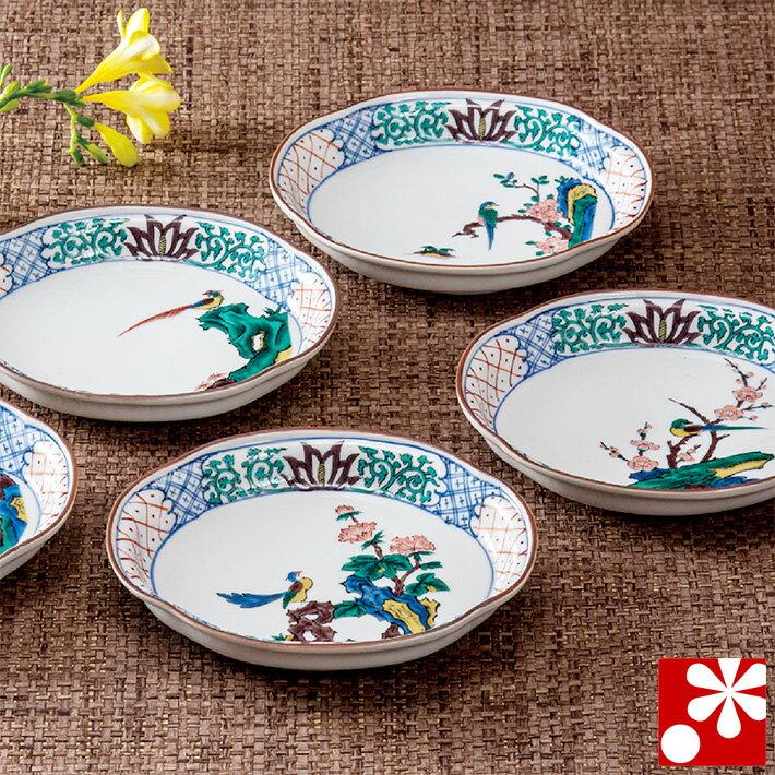 九谷焼 中皿 楕円皿 セット 古九谷花鳥( 和食器 取り皿 おしゃれ セット オシャレ )