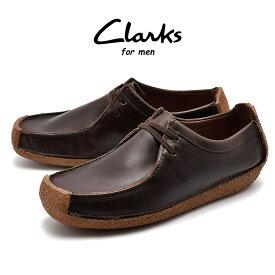 【クリアランスSALE開催中】送料無料 クラークス CLARKS ナタリー モカシン メンズ ブラウン レザー 革 カジュアル シューズ 靴 NATALIE 26134201