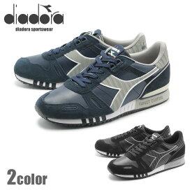 送料無料 ディアドラ メンズ スニーカー DIADORA タイタン レザー L/S ブルー 全2色 (DIADORA TITAN LEATHER L/S 501.16035401) 男性 靴 カジュアル シューズ