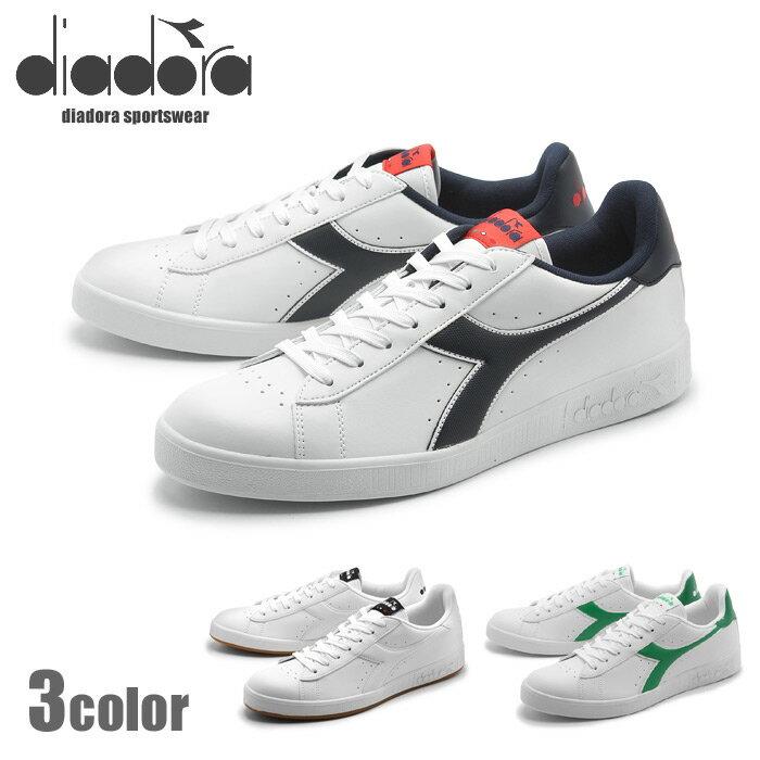 ディアドラ diadora メンズ レディース スニーカー DIADORA GAME Pホワイト グリーン 男性 女性 レザー 靴 カジュアル シューズ(DIADORA 101.160281 01 C0657 C1931 C6487) 送料無料