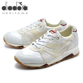 送料無料 diadora ディアドラ ヘリテージ メンズ スニーカー N9000 HERITAGE ホワイト グレー 白 クラシック レトロ (DIADORA HERITAGE N9000 HERITAGE 201.171870 01 75039)