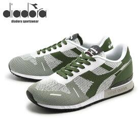 送料無料 ディアドラ diadora メンズ スニーカー DIADORA TITAN WEAVE ホワイト 白 グリーンガラパゴス 靴 カジュアル シューズ (DIADORA 501.171829 01 C6113)