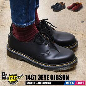 【SALE★最大1,000円OFFクーポン発行!】 ドクターマーチン 3ホール レディース メンズ ギブソン 1461 ブラック レッド 黒 赤 靴 シューズ プレーントゥ レザー 革靴 短靴 女性 Dr.Martens 1186 3HOLE GIBSON 1461