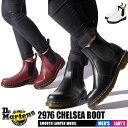 【秋の大感謝祭】 ドクターマーチン チェルシーブーツ メンズ レディース 2976 レザー サイドゴア ショート ブラック レッド 黒 赤 靴 シューズ Dr.Martens 2976 CHELSEA BOOT 22227001 22227600