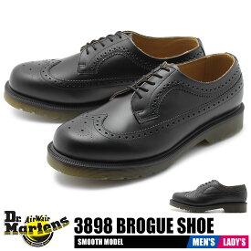 【クリアランスSALE開催中】送料無料 ドクターマーチン DR.MARTENS 3989 ブローグシューズ レザーシューズ メンズ レディース ユニセックス ブラック 黒 靴 シューズ 革靴 短靴 カジュアル レースアップ BROGUE SHOE 24340001