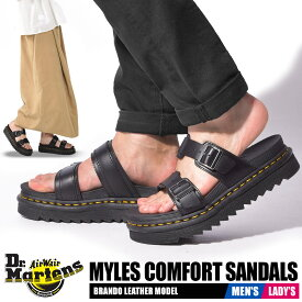 【お盆セール中】 ドクターマーチン サンダル レディース メンズ マイルス スライド ブラック 黒 靴 シューズ ベルト ストラップ コンフォート Dr.Martens MYLES SLIDE SANDAL 23523001