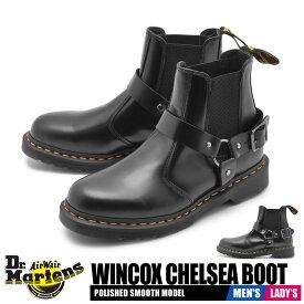 【夏のクリアランスセール】 ドクターマーチン チェルシーブーツ レディース メンズ ウィンコックス サイドゴアブーツ ブラック 黒 靴 シューズ ショートブーツ バイカー レザー カジュアル Dr.Martens WINCOX CHELSEA BOOT 23866001