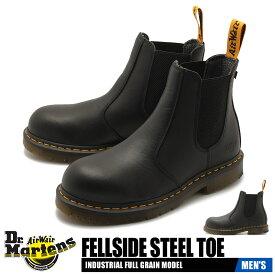 【サマーセール開催中】送料無料 ドクターマーチン DR.MARTENS フェルサイド スチールトゥ セーフティシューズ レザー 革 サウドゴア シューズ 靴 メンズ ブラック 黒 FELLSIDE STEEL TOE 23115001