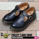 送料無料 ドクターマーチン DR.MARTENS ポリー Tバー ストラップ シューズ レディース モンク プレーントゥ レザー 革 靴 ブラック 黒 POLLEY T BAR SHOE 14852001