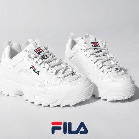 【24時間限定タイムセール】 フィラ スニーカー レディース メンズ FILA ディスラプター 2 プレミアム ホワイト 白 靴 シューズ 通勤 通学 ローカット 厚底 おしゃれ シンプル 定番 カジュアル DISRUPTOR 2 PREMIUM 5FM00002 DISRUPTOR2