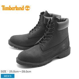 送料無料 ティンバーランド TIMBERLAND メンズ ブーツ 6インチ ベーシック スムース ブーツ ブラック 黒 ウォータープルーフ シューズ ヌバック レザー 天然皮革 靴 (19039 6INCH BASIC BOOTS)