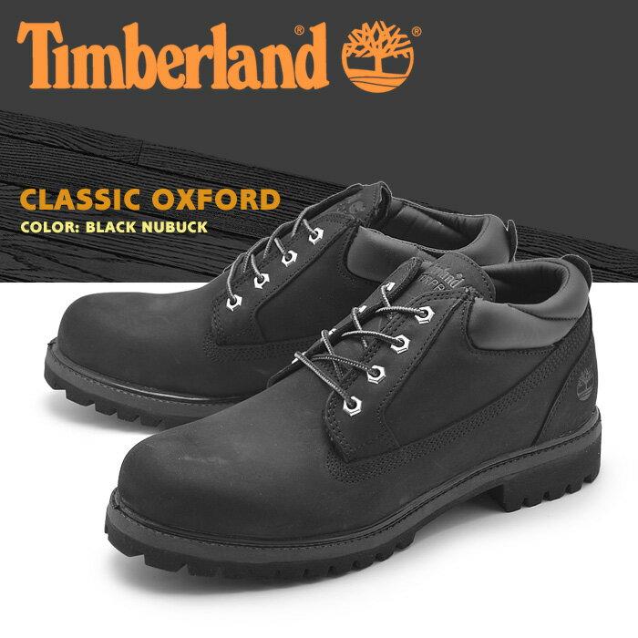 【クリアランスセール開催中】 ティンバーランド TIMBERLAND メンズ ブーツ クラシック オックスフォード ブラック 黒 ショート ミッドカット シューズ ヌバック レザー 天然皮革 ウォータープルーフ 靴 男性 (73537 CLASSIC OXFORD) 送料無料