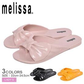 メリッサ MELISSA ローズ サンダル レディース ブラック ピンク イエロー 靴 シューズ 海 ビーチ ぺたんこ パンプス ミュール リボン 楽ちん かわいい つっかけ ROSE 32681