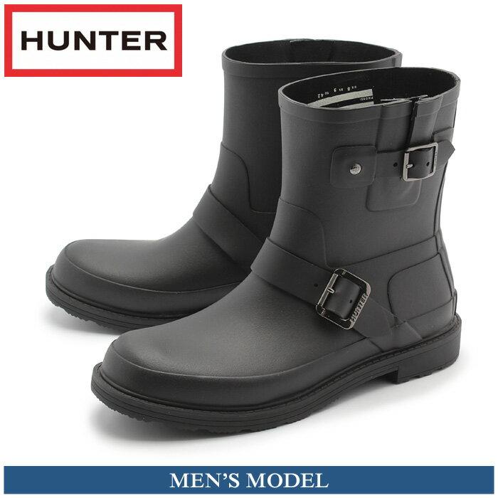 ハンター HUNTER メンズ レインブーツ オリジナル ラバー バイカーブラック 黒 シューズ ハンター 防水 耐水 長靴 マットラバー 男性(HUNTER MFS9007RMA ORIGINAL RUBBER BIKER)送料無料