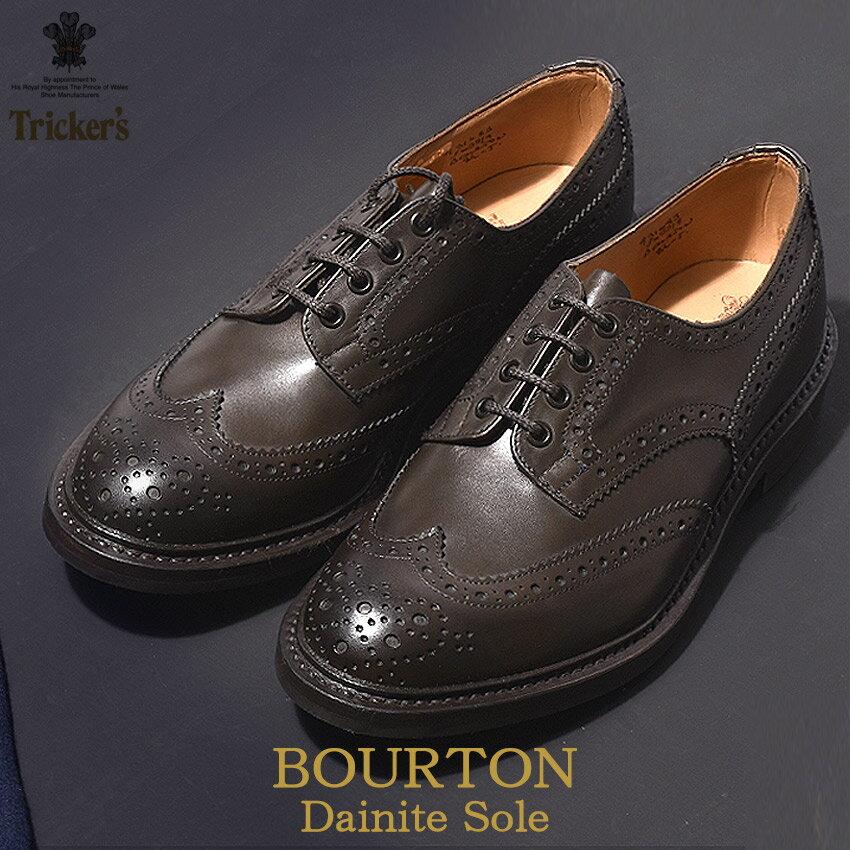 送料無料 トリッカーズ TRICKER'S メンズ ウィングチップ バートン ダイナイトソール TRICKERS 男性 ウイング カジュアル カントリー シューズ 革靴 短靴 靴 (TRICKER'S 5633 9 COUNTRY BOURTON) メダリオン