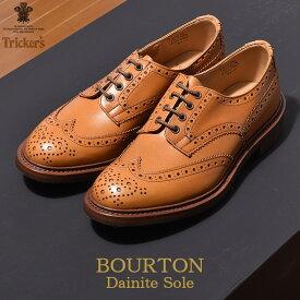 トリッカーズ TRICKER'S メンズ ウィングチップ バートン エイコーンアンティーク ダイナイトソール TRICKERS ブラウン ウイング カジュアル カントリー シューズ 革靴 短靴 靴 (TRICKER'S 5633 38 COUNTRY BOURTON) メダリオン