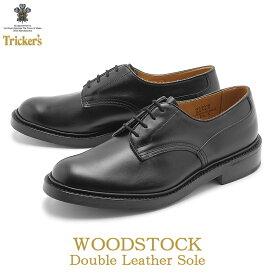 トリッカーズ TRICKER'S プレーントゥ ウッドストック ダブルレザーソール ブラックカーフ TRICKERS ブラック 黒 プレーントゥ カジュアル シューズ 革靴 短靴 靴 (TRICKER'S 5636 1 COUNTRY WOODSTOCK) 送料無料
