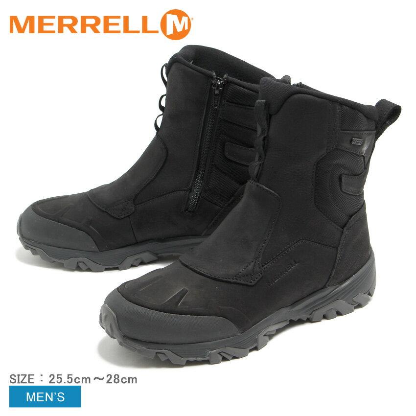 メレル MERRELL コールドパックアイス プラス8 ジップ ポーラー ウォータープルーフ ブーツ メンズ ウィンター スノー サイドジップ 防水 雨 アウトドア ブラック COLD PACK ICE PLUS 8 ZIP POLAR WATER PROOF J92025 送料無料