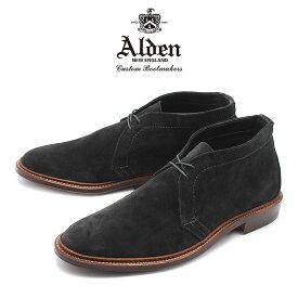【最大92%OFF!大決算】オールデン ALDEN チャッカーブーツ アンラインド メンズ シューズ トラディショナル ビジネス レイドンラスト フォーマル スウェ−ド 革靴 紳士靴 ブラック 黒 UNLINED CHUKKA BOOT 1497 送料無料