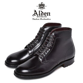 【50周年クーポン発行!】 オールデン ALDEN コードバン ブーツ ドレスブーツ メンズ ブラック 黒 靴 シューズ トラディショナル ビジネス フォーマル 本革 レザー 革靴 紳士靴 通勤 会社員 大人 高級 CORDOVAN BOOT 4600HC