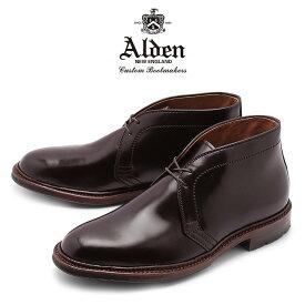 【最大92%OFF!大決算】オールデン ALDEN コードバン チャッカーブーツ バーガンディー アンティーク メンズ シューズ トラディショナル ビジネス フォーマル バリーラスト革靴 紳士靴 茶 ANTIQUE CHUKKA BOOTS D5706C 送料無料
