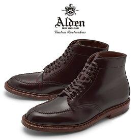 オールデン ALDEN コードバン タンカーブーツ バーガンディ メンズ ブランド シューズ トラディショナル ビジネス フォーマル 馬革 革靴 靴 紳士靴 茶 TANKER BOOT M6906H 送料無料