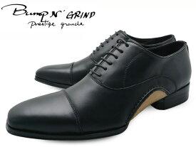 Bump N' GRIND バンプ アンド グラインド prestige grade プレステージグレード bg-7010 BLACK メンズ ビジネスシューズ 本革 ストレートチップ ドレスシューズ スクエアトゥ 革靴 紳士靴 就活 靴 くつ 父の日 ギフト