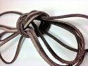 銀付き革ひも・ダークブラウン(NIPPI製)・約3.5mm幅・90cm【オーダーメイドの靴ヒモ専門店 靴ケア用品・アクセサリ…